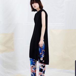 MM6 Maison Margiela Sleeveless Tank Black Dress